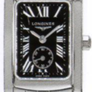 Longines Dolce Vita Black Dial Stainless Steel Ladies Watch L51554796