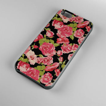 DS293-iPhone Case - Iphone 5 case-Iphone 5s case - Iphone 4 case - Iphone 4s case - Iphone Cover -Black Roses Vintage Flowers iPhone Case