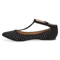 Studded Point-Toe Ballet Flat