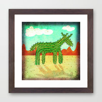 Cactus Unicorn Framed Art Print by That's So Unicorny