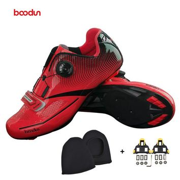 BOODUN red Cycling Shoes Outdoor Men off Road zapatillas deportivas mujer sapatilha ciclismo Bicycle Bike Shoes men sneakers