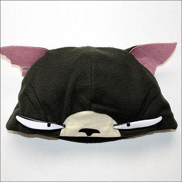 FLCL Fat Cat Miyu Headwear Fleece Costume Cosplay Beanie Cap Hat w/Ears OFFICIAL