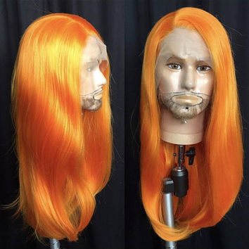 Orange wig drag queen