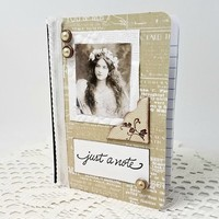 vintage girl journal - vintage girl notebook - vintage girl photo - vintage mini journal - vintage mini notebook - vintage pocket journal