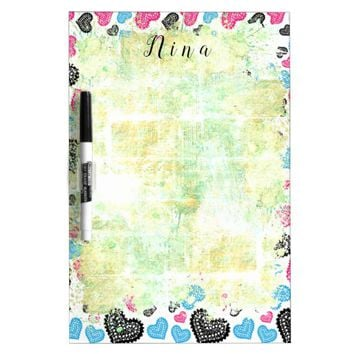Lace Hearts Dry-Erase Board