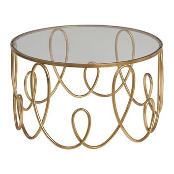 Brielle Gold Coffee Table By Uttermost