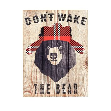 Don't Wake the Bear Wall Decor