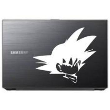 Dragon Ball Goku Head Crossed Automobile Decal Car Window Decal Tablet PC Computer Automobile Window Wall Laptop Notebook Ipad cell phone