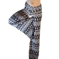 PALAZZO PANT Black and White Diamond Print