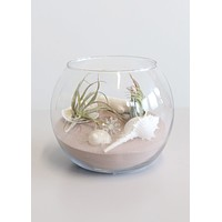 """Glass Rose Bubble Bowl in Clear - 5"""" Tall x 5.5"""" Wide"""