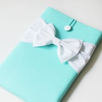 "Tiffany Blue Bow 13"" Laptop Case 