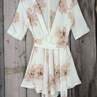 Cupshe Flower Bomb Plunging Chiffon Romper