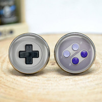 Game Consoles Cufflinks,gamepad button game player cuff links gift for him,Men Accessories