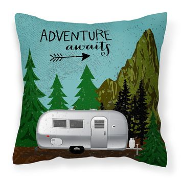 Airstream Camper Adventure Awaits Fabric Decorative Pillow VHA3022PW1414