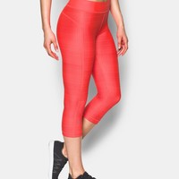 Women's UA HeatGear® Armour Printed Capri | Under Armour US