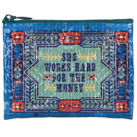 SHE WORKS HARD COIN PURSE