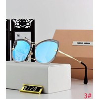 Miu Miu Trending Women Stylish Delicate Sun Shades Eyeglasses Rimless Glasses Sunglasses 3# Blue I12645-1
