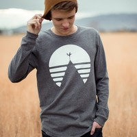 MENS FIND HOME LONG SLEEVE TEE