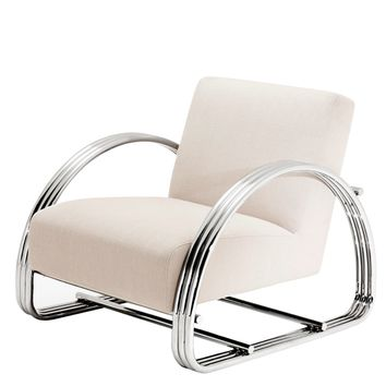 Lounge Chair Beige | Eichholtz Basque