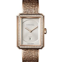 CHANEL BOY·FRIEND TWEED WATCH WITH DIAMONDS