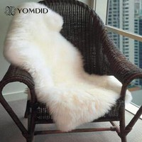 Soft Chair Sofa Cover Bedroom Carpet Faux Sheepskin Rug Mat Home Decoration