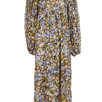 Alley Cat By Betsey Johnson Vintage Floral Maxi Dress