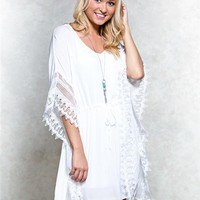 BeBop Crochet Caftan Dress