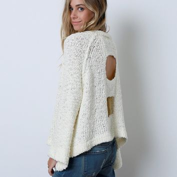 Backup Plan Sweater Top - Ivory
