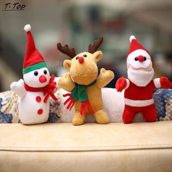 Three Cute Mini Santa and Reindeer for Kids who Love Christmas.