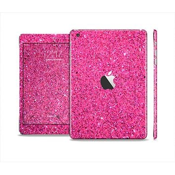 The Pink Sparkly Glitter Ultra Metallic Skin Set for the Apple iPad Mini 4