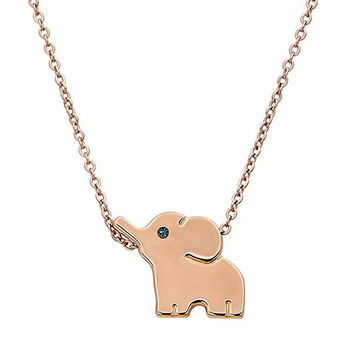 18k Plated Stainless Steel Elephant Animal Lucky Elephant Necklace Everyday Jewelry