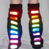 Rainbow Rave Leg Warmers