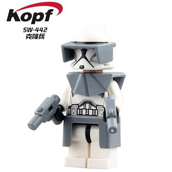 Single Sale The Force Awakens Clone Trooper Star Wars 7 Commander Fox Rex Building Blocks Collection Toys for children PG8002