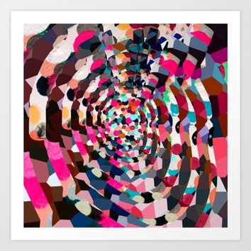 Kaleidoscope Heart Art Print by wtfineart
