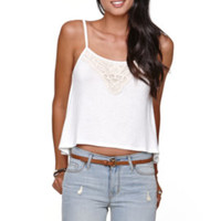 LA Hearts Crop Embroidered Swing Top at PacSun.com