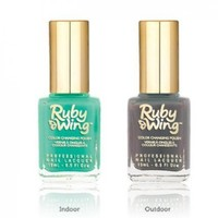 Ruby Wing Color Changing Solar Activating Nail Polish Summer Collection Eternal Turquoise To Charcoal