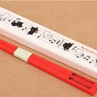 cream Kutusita Nyanko cats music Bento Chopsticks - Cutlery - Bento Boxes