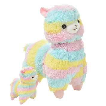 Cotton Candy Alpaca Plush Toy