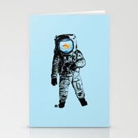 Goldfish Astronaut Stationery Cards by Matt Irving
