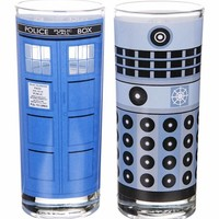 Boxed Doctor Who Set Of 2 Glasses : TruffleShuffle.com