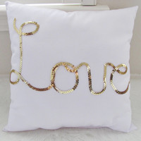 Gold pillow/ Decorative pillow/ Nursery Decor