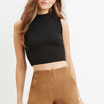 Matelasse Crop Top
