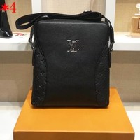 LV Bag Louis Vuitton Fashion Men Print Shoulder Bag B-WMXB-PFSH Black