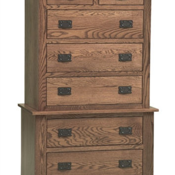 Pioneer Mission OAK CHEST ON CHEST AM 219