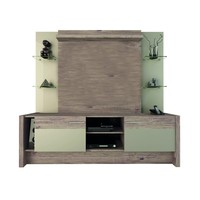 Morning Side Freestanding Theater Entertainment Center in Nature and Nude