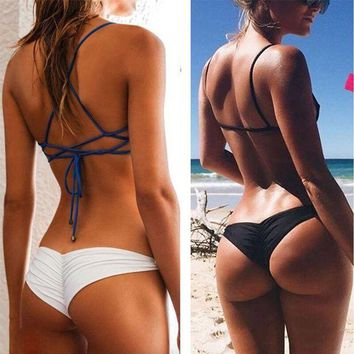 DCCK7N3 Sexy Women Bikini Brazilian Cheeky Bottom Thong V Swimwear Swimsuit Panties Briefs B2Cshop