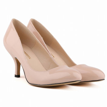 Classic High Heels Patent Leather Shallow Women's Shoes