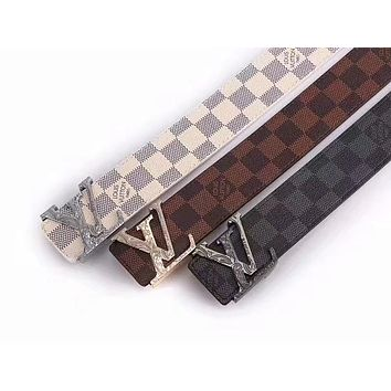 Louis Vuitton LV Damier Azur Belt