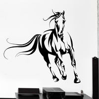 Wall Vinyl Decal Horse Animals Mustang Nature Freedom Home Interior Decor z4111