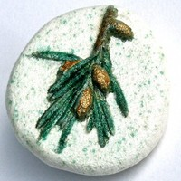 Evergreen Handcrafted Impression of Nature Pin
